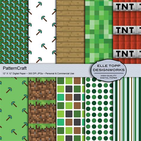 Minecraft Printable Paper Crafts - unavailable listing on etsy