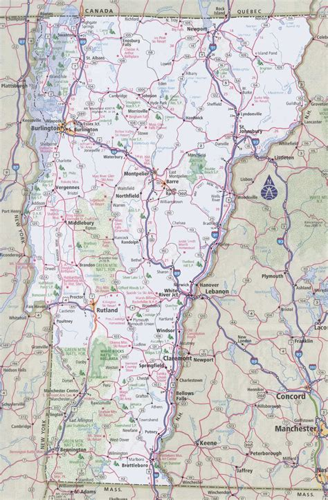 road map of vt vermont road map