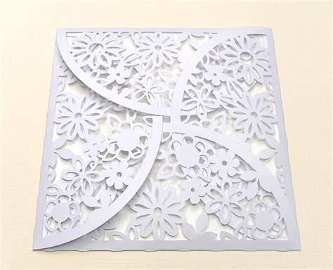 flower envelope template flower petal envelope free cut file