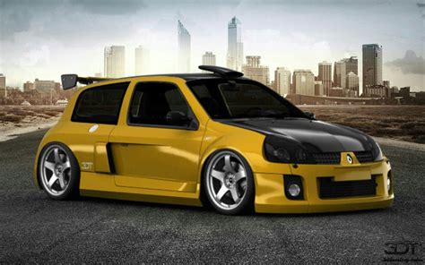 renault clio v6 3d tuning renault clio v6 race car 3d tuning