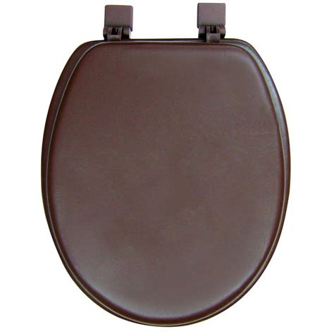 brown toilet seat classique ginsey elongated closed front soft toilet seat