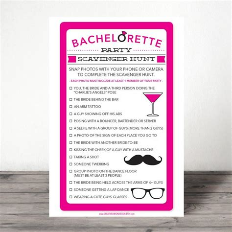 The Bachelor List The Hunt The Wedding By Feather bachelorette scavenger hunt bachelorette
