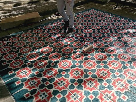 Colorful Floor Tile Tile Floors Spray Painted To Look Like The Real Thing My