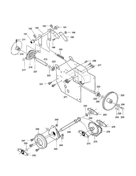 craftsman snowblower parts diagram craftsman 5 hp 22 snowblower parts craftsman tractor