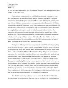Child Labour Day Essay by Abby S Child Labour Essay