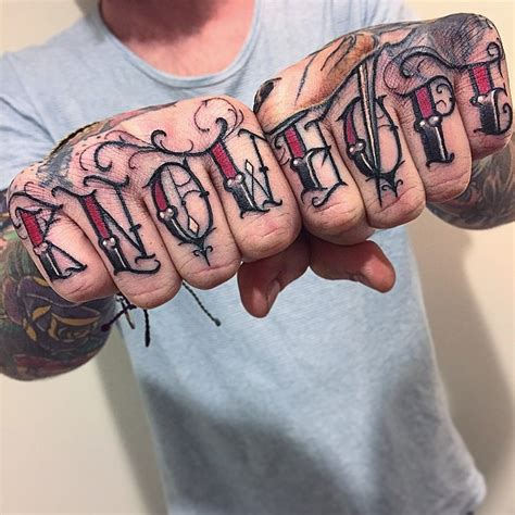 knuckle tattoo font knuckle tattoos artist magazine