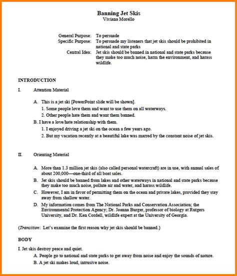 apa report format template 10 outline sle apa cna resumed