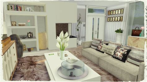 sims 4 modern living room dinha - Sims 4 Wohnzimmer