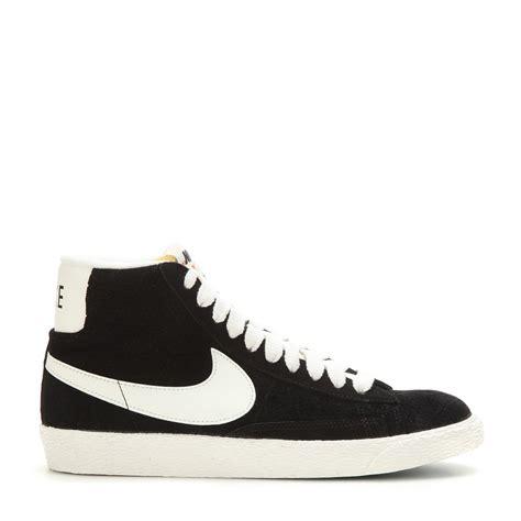 nike high top shoes nike blazer mid vintage suede high top sneakers in black