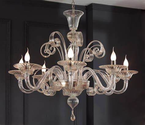 Murano Glass Chandelier Modern Clear Glass Modern Murano Chandelier S1199l8 Murano