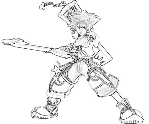 Kingdom Hearts Sora Characters Yumiko Fujiwara Kingdom Hearts Coloring Page