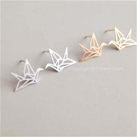 Origami Crane Charm - origami crane necklace in gold on luulla