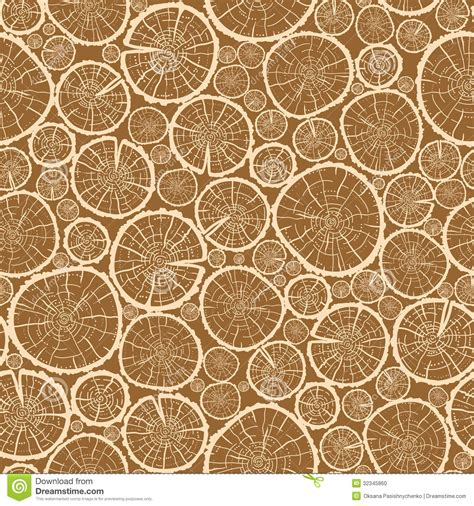 seamless wood pattern vector wood logs cuts seamless pattern background stock vector