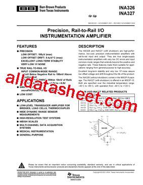 326 transistor datasheet ina326ea250 datasheet pdf instruments