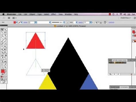 adobe illustrator triangle pattern adobe illustrator tutorial how to make a triangle doovi