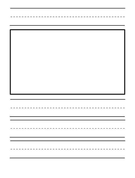 printable journal pages kindergarten 6 best images of kindergarten writing journal paper