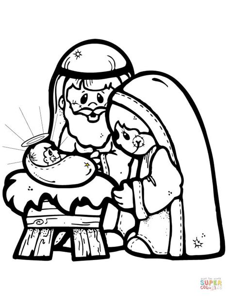 search results for nativity scene coloring pages