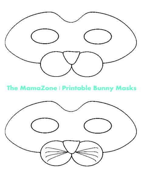printable mask craft diy printable rabbit mask template for kids mask