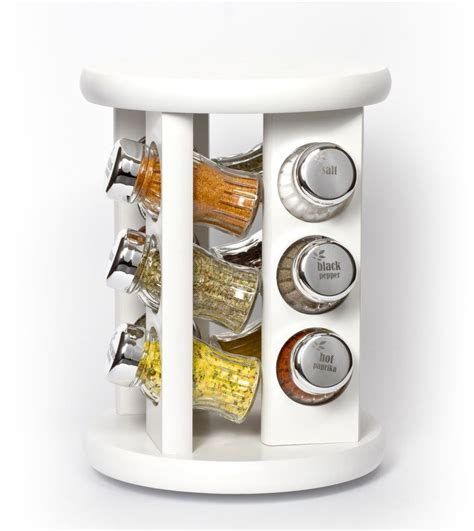 kitchenrax revolving carousel spice herb racks 12 or 16