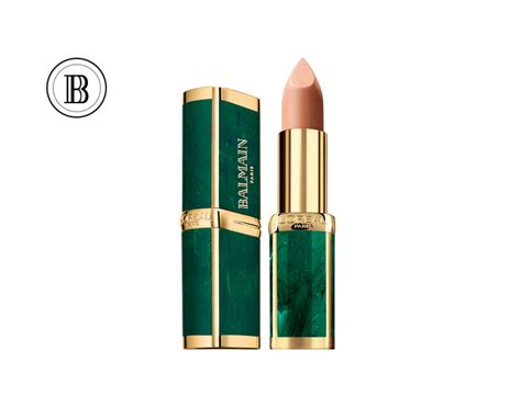 Loreal Balmain l or 233 al x balmain lipstick collection poppaganda