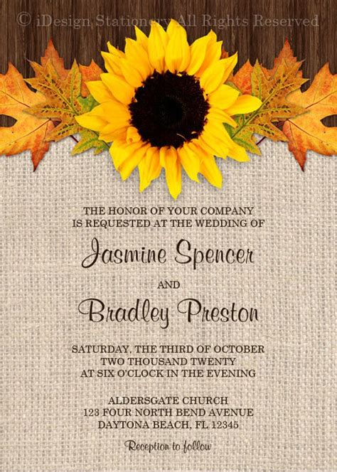 sunflower wedding invitation templates psd ai word