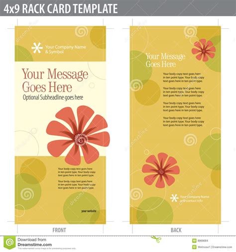 keyhole nature brochure template design id 0000008048 4x9 rack card brochure template stock images image 8969684