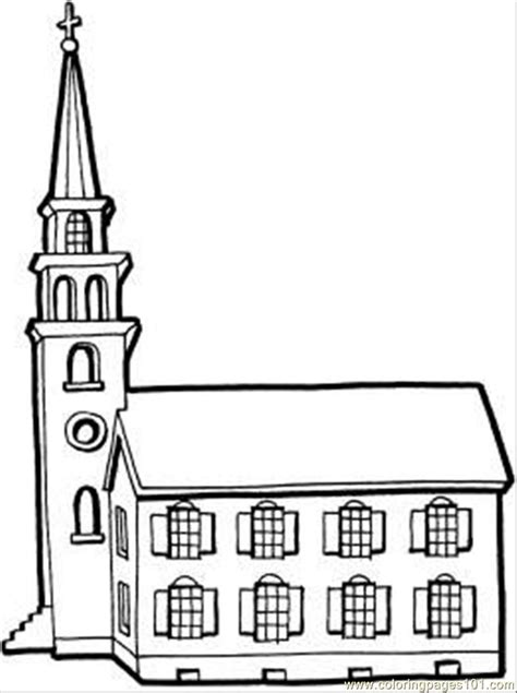 Church Building Template Church Coloring Pages Free Printable Coloringstar