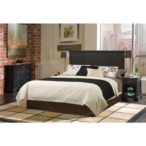 home styles bedford  piece black queen bedroom set    home depot