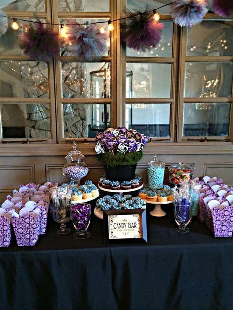 purple themed wedding shower ideas black white purple blue bridal wedding shower