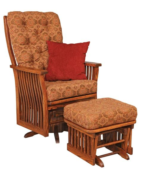 Amish Rocking Chair Cushions by Jake S Amish Furniture 70 1 Swilvel Glider With Ottoman