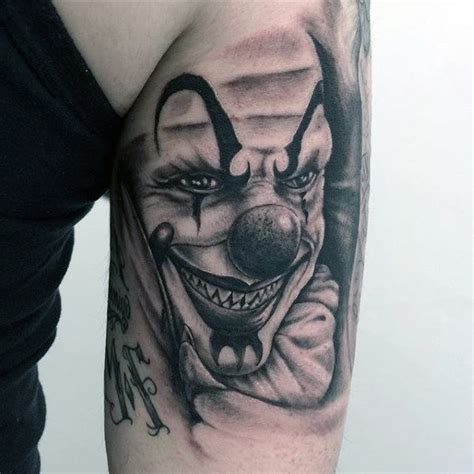 payaso tattoo designs 75 clown tattoos for comic performer design ideas