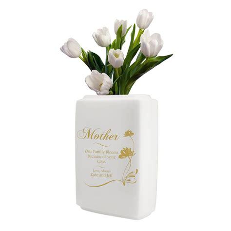 Gift Vases by Personalized White Ceramic Vase For