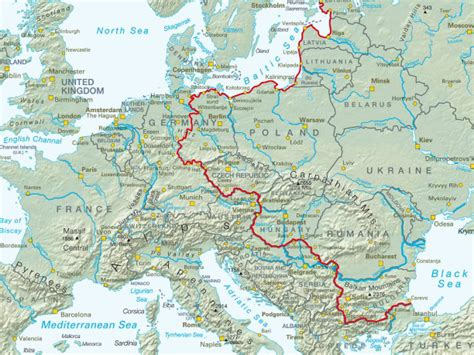iron curtain countries map the iron curtain trail cycling through history