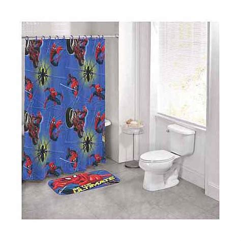 marvel bathroom set marvel spider man 14 piece bath set walmart com