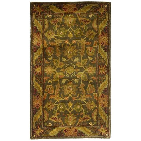 3 X 4 Area Rugs Safavieh Antiquity Green Gold 2 Ft 3 In X 4 Ft Area Rug At52k 24 The Home Depot