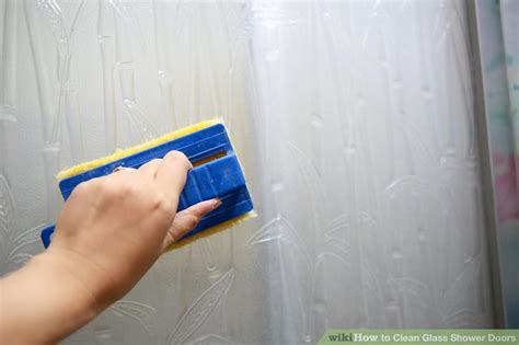 Cleaning Shower Glass Doors How To Clean Glass Shower Doors 11 Steps With Pictures