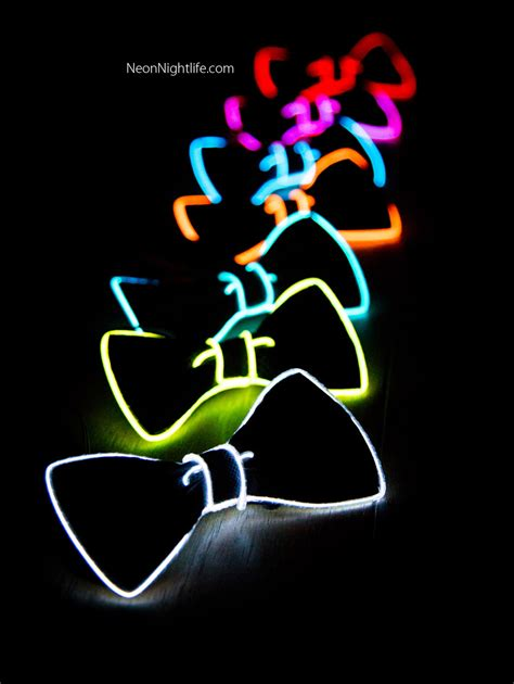 glow in the dark lights light up bow tie neck glow in the dark light up rave wear