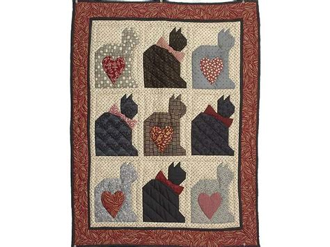 Patchwork Cats - patchwork cats quilt wonderful skillfully made amish