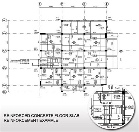 Slab Floor Plans by Concrete Floor Slab Reinforcement Exle Plan View Of A