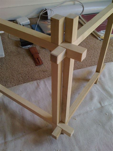 japanese joinery lantern  progress avec images
