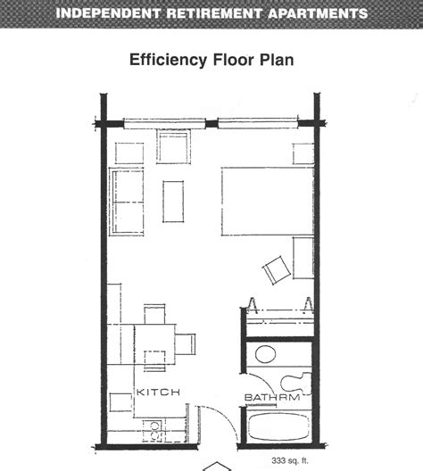 Efficiency Apartment Floor Plans | efficiency apartment layout decobizz com