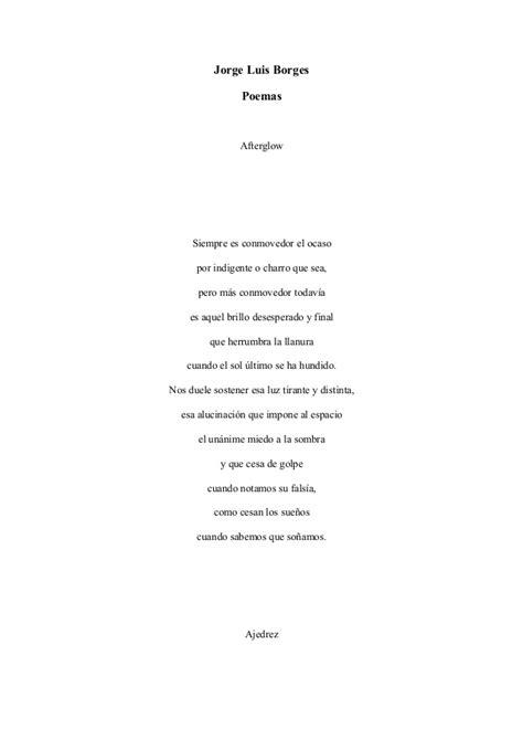 Poemas De Jorge Luis Borges Poemas De Busca Tus Poemas | borges jorge luis poemas varios word