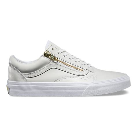 Zipper Vans leather skool zip shop womens shoes at vans