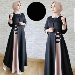 Baju Muslimah Nilai baju gamis model terbaru desain polos warna kombinasi