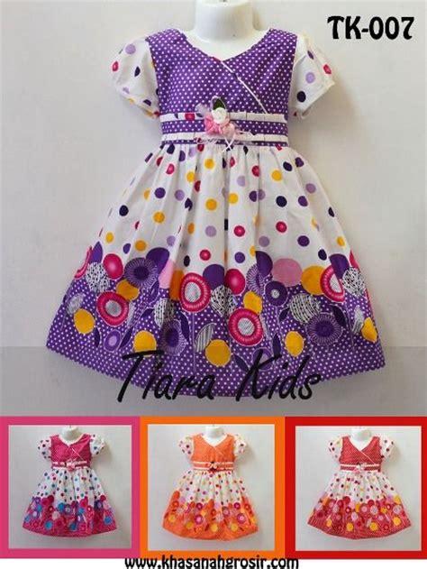 Dress Batik Katun Gaun Pakaian Anak Perempuan Nyaman Murah Trendy www khasanahgrosir khasanah grosir produsen fashion branded bandung jual grosir baju anak