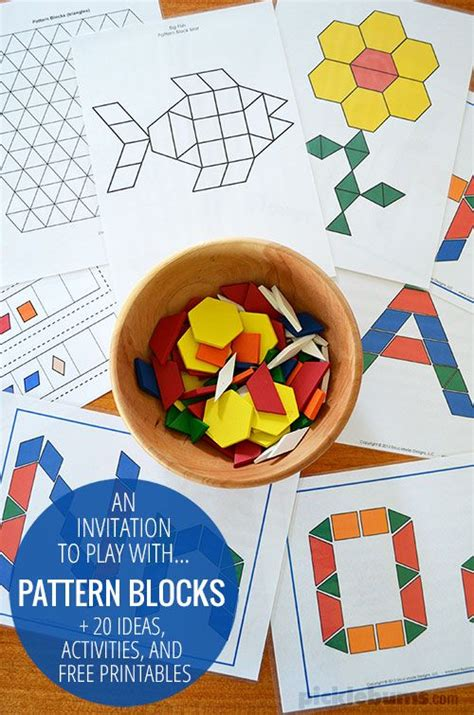 pattern blocks in kindergarten pattern blocks 20 ideas activities free printables