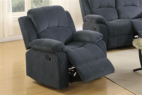 grey rocking recliner poundex f6783 grey fabric rocker recliner chair steal a