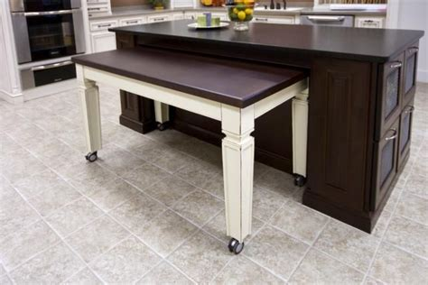 kitchen island with pull out table roll out table accessible kitchen ideas