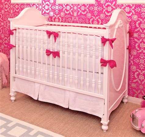 Pink Cribs by White Pink Crib Bedding Set Crown Interiors