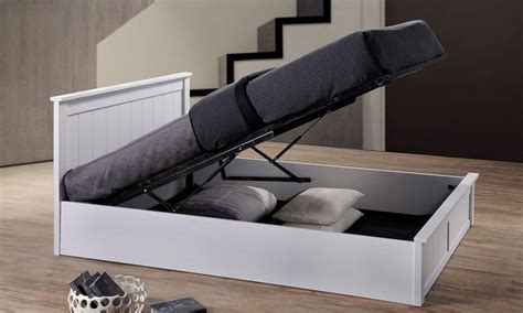 wooden ottoman storage beds como wooden ottoman storage bed groupon goods